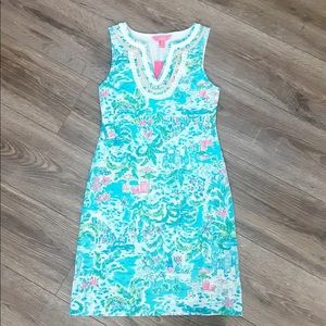 Lilly Pulitzer Harper shift what lovely place XXS